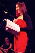 Actress Karen DeLisle in The Vagina Monologues by Eve Ensler. Photo: Uka Meissner-DeRuiz