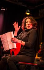 Actress Susan Schwartz in The Vagina Monologues by Eve Ensler. Photo: Uka Meissner-DeRuiz