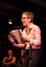 Actress Barbara Claussen in The Vagina Monologues by Eve Ensler. Photo: Uka Meissner-DeRuiz