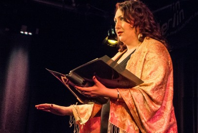 Actress Sarah Conway in The Vagina Monologues by Eve Ensler. Photo: Uka Meissner-DeRuiz