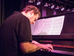 "Pianist Florian Tekale during a performance of ""What we mean by Song"". Photo: Uka Meissner-DeRuiz"