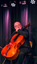 "Cellist Scott Roller during a performance of ""What we mean by Song"". Photo: Uka Meissner-DeRuiz"